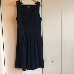 FINAL PRICE DROP. Lands End dark blue dress EUC